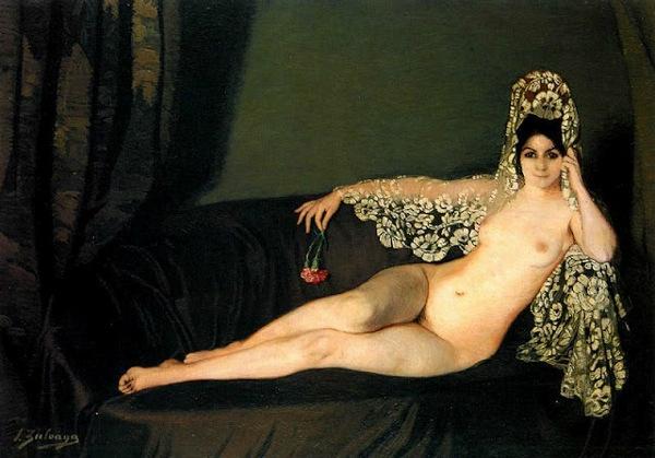 femme cougar en peinture
